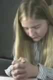 Preghiera della ragazza Fotografia Stock
