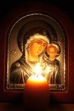 Preghiera della sera del Virgin Mary benedetto Fotografia Stock Libera da Diritti