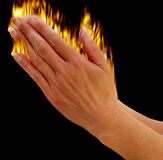 Preghiera delle mani Immagini Stock Libere da Diritti