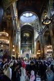 Preghiera di Pasqua nella cattedrale della st Vladimir a Kiev Immagini Stock