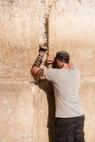 Preghiera ebrea alla parete occidentale Immagini Stock Libere da Diritti