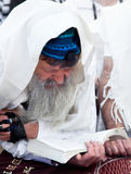 Preghiera ebrea alla parete occidentale, Israele Fotografia Stock