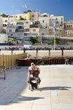 Preghiera ebrea dell'uomo Fotografia Stock