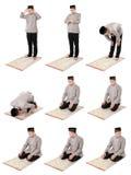 Preghiera facente musulmana dell'uomo Immagine Stock