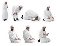 preghiera islamica fatta dallo sceicco musulmano Fotografia Stock