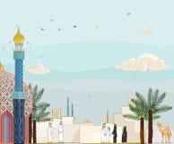 Preghiera islamica Salah del tempo royalty illustrazione gratis
