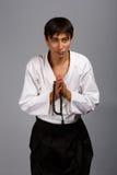 Preghiera orientale con le perle Fotografia Stock