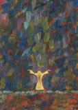 Preghiera Pittura a olio royalty illustrazione gratis