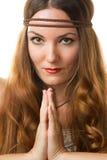 Preghiera religiosa della donna Immagini Stock Libere da Diritti