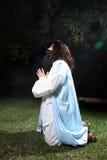 Preghiera in tempo di difficoltà Fotografie Stock Libere da Diritti
