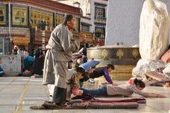 Preghiera tibetana Fotografia Stock Libera da Diritti