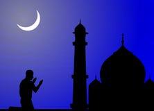 Preghiere d'offerta umane, moschea Fotografia Stock