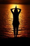 Preghiere del mattino indù Fotografia Stock Libera da Diritti