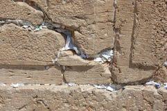 Preghiere nella parete occidentale Gerusalemme Fotografie Stock