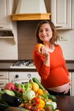 Pregnanancy - healthy lifestyle Stock Images