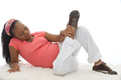 Pregnancy. Beautiful Young African-American Pregnant Woman Royalty Free Stock Photos