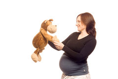 Pregnancy. Pregnant woman representing a healthy lifestyle Royalty Free Stock Photos