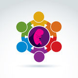Pregnancy and abortion idea, baby embryo symbol. Illustration of Royalty Free Stock Photo