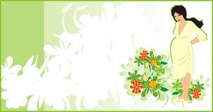 Pregnancy. Background for card. Vector illustration Stock Image