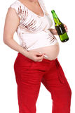 Pregnancy and bad habits Stock Photos