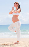 Pregnancy balance Royalty Free Stock Photography