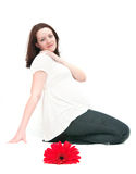 Pregnancy and beauty Stock Photography