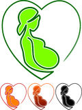 Pregnancy care. Concept illustrated isolated design Royalty Free Stock Photo