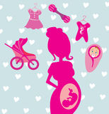 Pregnancy Cartoon Royalty Free Stock Images