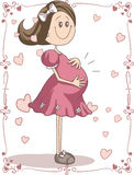 Pregnancy Cartoon Royalty Free Stock Photos