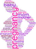 Pregnancy concept  tag cloud Royalty Free Stock Photography