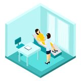 Pregnancy Consultation Illustration Stock Images
