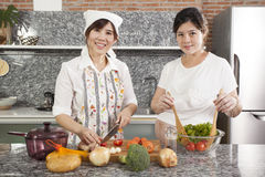 Pregnancy cook Stock Images