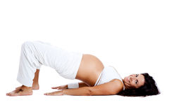 Pregnancy exercises Stock Photos