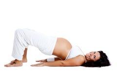 Pregnancy exercises stock photos