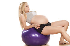 Pregnancy and exercising Stock Images