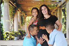 Pregnancy, a Family Affair Stock Images