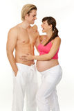 Pregnancy and fitness Stock Photo
