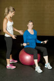 Pregnancy Fitness Instructor Stock Images