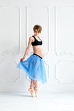 pregnancy fitness sport concept happy pregnant woman Stock Photography