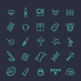 Pregnancy, gynecology, childbirth and motherhood line icons set Royalty Free Stock Photography