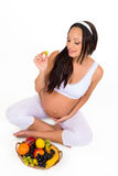 Pregnancy, health and beauty. Proper nutrition. Stock Image
