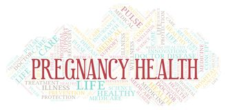 Pregnancy Health word cloud vector illustration