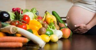 Pregnancy - healthy food Stock Photos