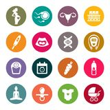 Pregnancy icon set. Vector Illustration.  Royalty Free Stock Images