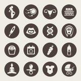 Pregnancy icon set Stock Photography
