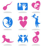 Pregnancy icons Royalty Free Stock Image