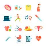 Pregnancy Icons Set Stock Photo