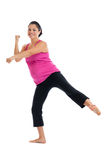Pregnancy low impact aerobic exercise Stock Images