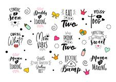 0f4cb0f0a0044 Pregnancy Mama Mother Quote Set Vector Lettering Stock Illustration -  Illustration of loading, making: 130076092