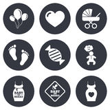 Pregnancy, maternity and baby care icons Royalty Free Stock Photo